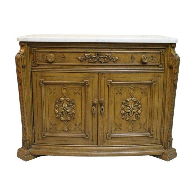 Image of Oak & Marble French Commode