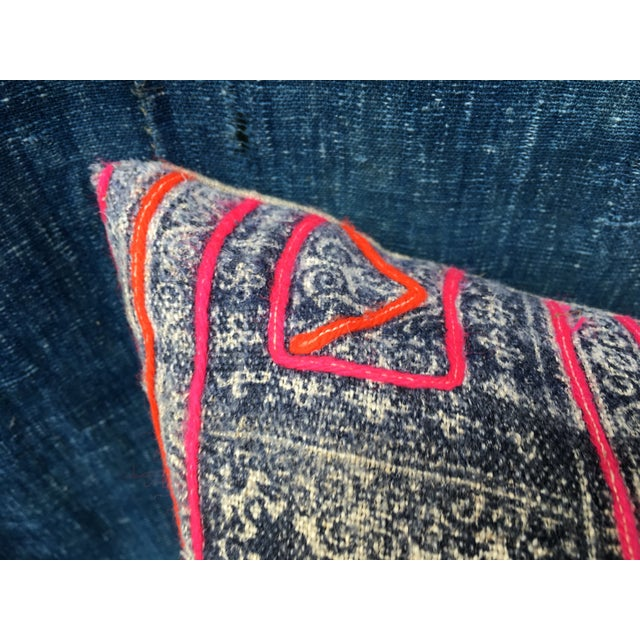 Hmong Tribal Batik Pillow - Image 5 of 7