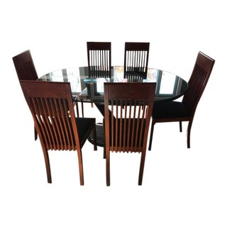 Roche Bobois Dining Table With 6 Montina Dining Chairs