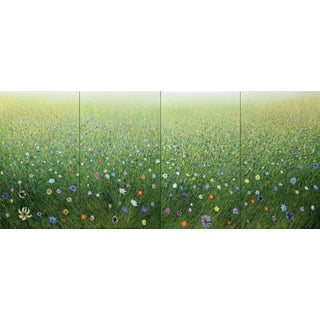 Mist Field Quadriptych Painting