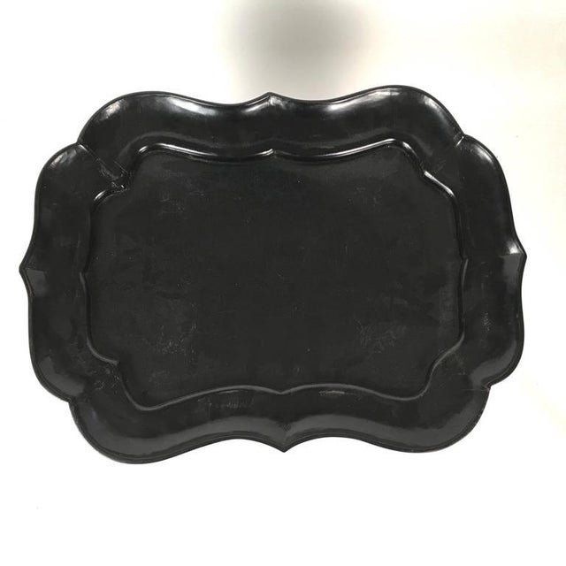 Black Lacquered Tray Top Coffee Table - Image 4 of 5
