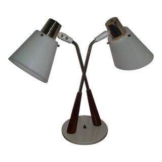 Gerald Thurston Ligholier Bullet Double Desk Lamp
