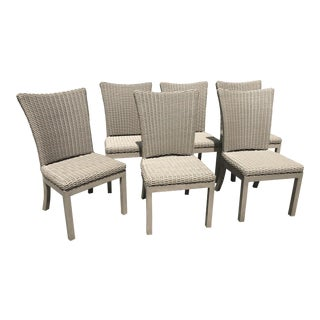 Summer Classics Outdoor Wicker Dining Chairs- Set of 6
