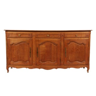 Vintage Golden Oak Louis XV Buffet