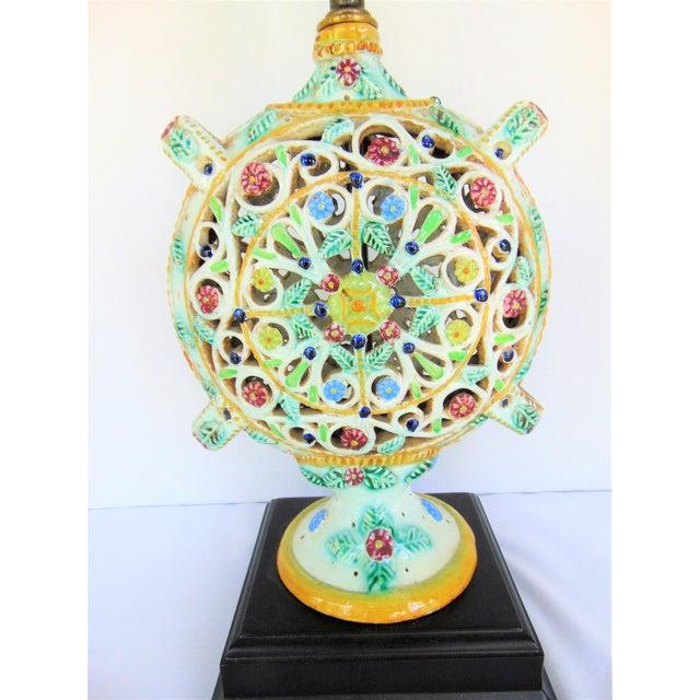 Image of Italian Pottery Vase Lamp