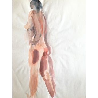 Thelma Moody 1970's Standing Nude Watercolor