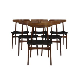 Henning Kjaernulf for Bruno Hansen Rosewood Dining Chairs