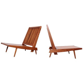 Pair of Spindle Back Lounge Chairs by George Nakashima