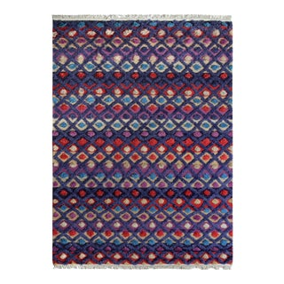 "Moroccan Arya Stanford Purple/Blue Wool Rug - 5'4"" X 8'3"""