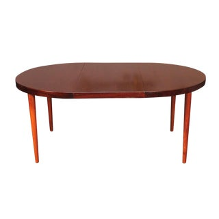 Danish Modern Rosewood Dining Table with Three Leaves