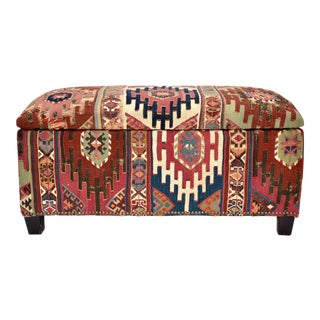 Antique Caucasian Kilim Trunk
