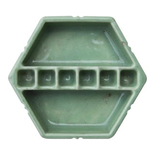 Vintage Art Deco Mint Green Snuff-A-Rette Ashtray