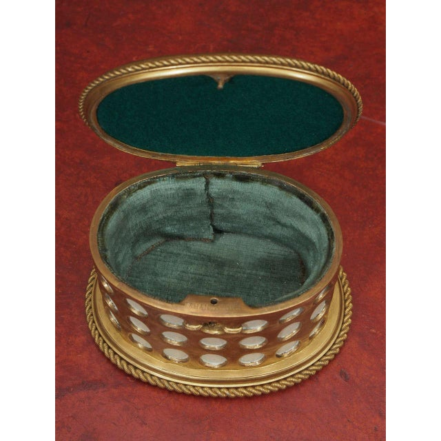 "Charles X Gilt and Mosaic Jewlery Box, Signed ""Tahan, Paris"" - Image 3 of 8"