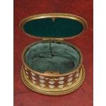 "Image of Charles X Gilt and Mosaic Jewlery Box, Signed ""Tahan, Paris"""