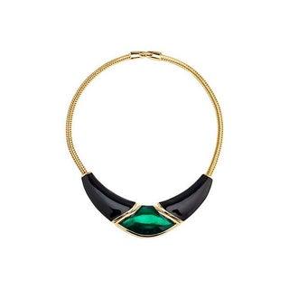 Deco-Style Enamel Necklace