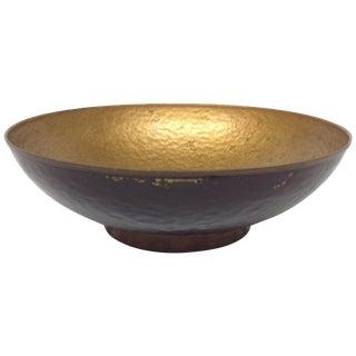 Oppenheim Israel Enameled Brass Bowl