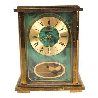 W a Schmid Schlenker for Nieman Marcus Malachite Carriage Clock