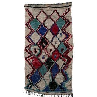 Vintage Azilal Carpet - 4′ × 7′11″
