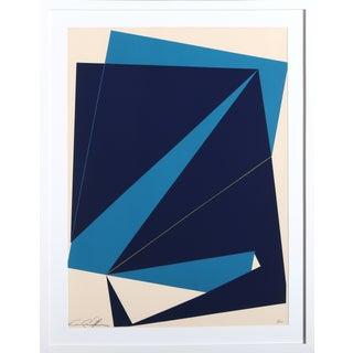 Cris Cristofaro Navy & Blue Rectangles Silkscreen
