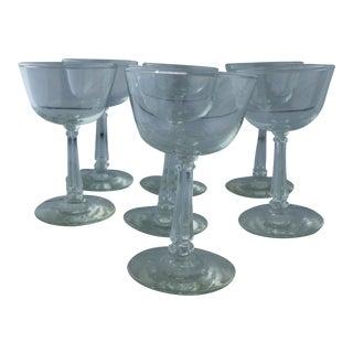 Art Deco Style Midcentury Wine Glasses - Set of 7