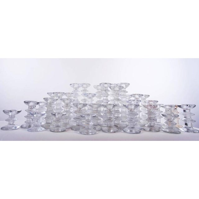 """1970s """"Ice Crystal"""" Candlesticks - Set of 36 - Image 5 of 5"""