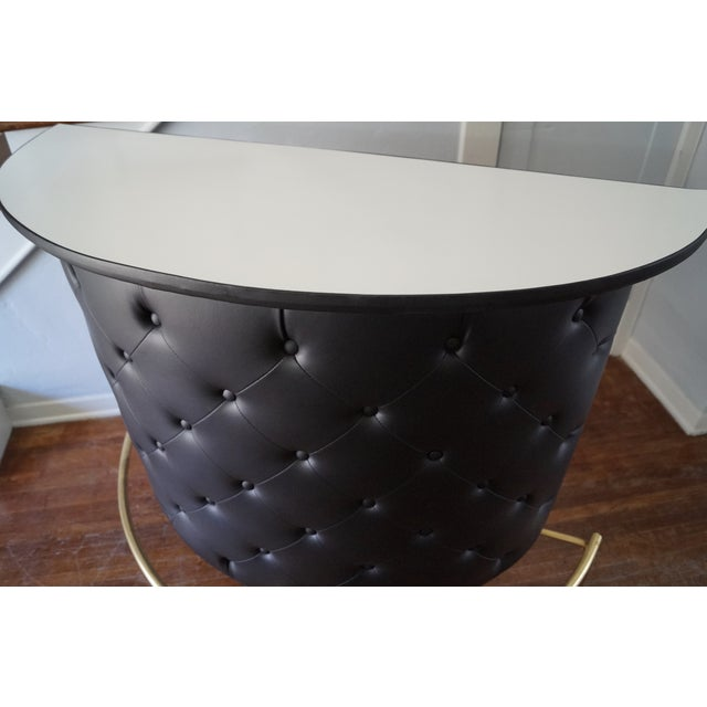 Mid-Century Tufted Atomic Restored Bar Tray - Image 10 of 11