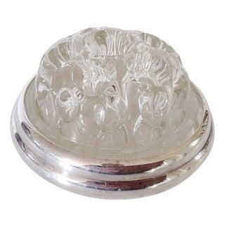 Maison Christofle Glass & Silver Flower Frog