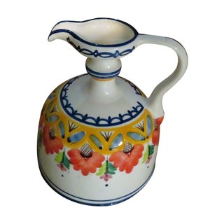 Vintage Ceramic Hand Painted Water Jug