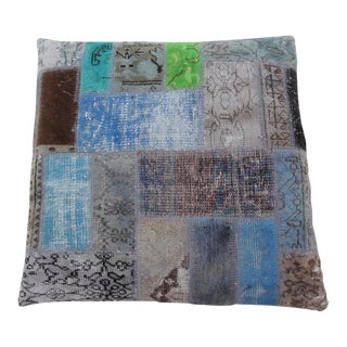 Vintage Turkish Patchwork Floor Pillow Dog Bed 36'' x 36''