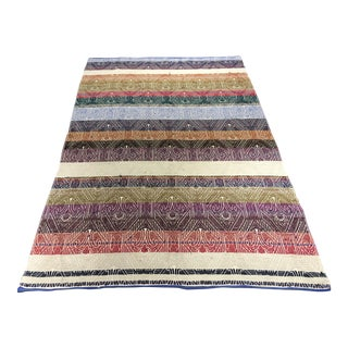 "Turkish Flat Weave Kilim Rug - 4'8"" x 7'"
