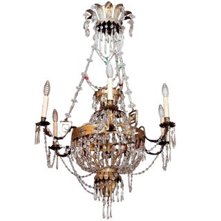 AN EARLY 19C TUSCAN CHANDELIER