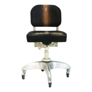 Cole Style Industrial Pony Upholstery & Steel Office Swivel Chair