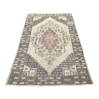 Pastel Vintage Turkish Rug - 3′7″ × 6′7″