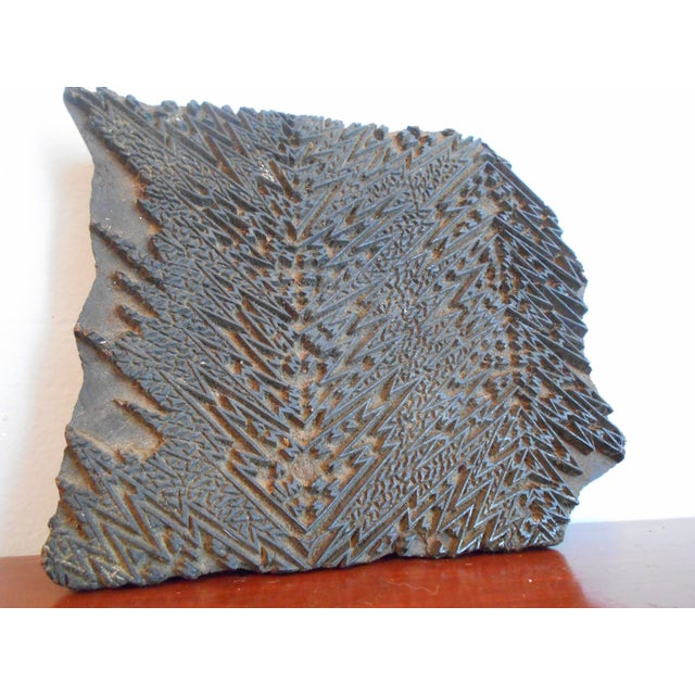 Antique Wood Print Block I - Image 2 of 5