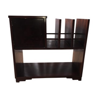 Bar or Wine Rack With Brass Lined Compartment