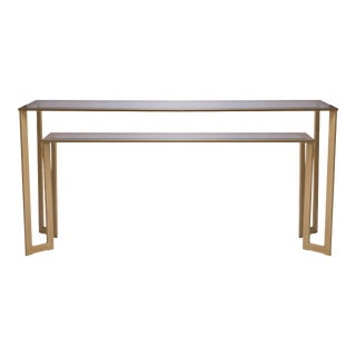 Gilt 2-Tier Geometric Console