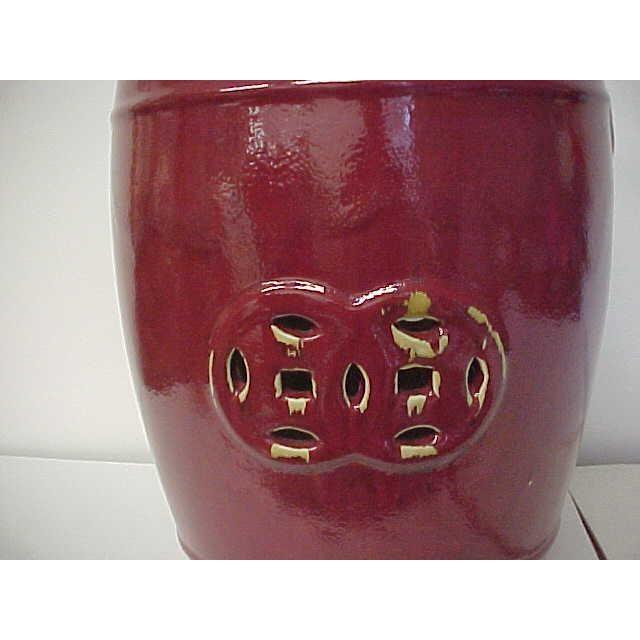 Oxblood Ceramic Garden Stool - Image 5 of 5
