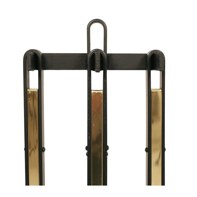 Superb Wrought Iron Loop Handled Fire Tools Decaso