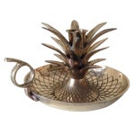 Image of Heavy Brass Pineapple Candle Stick Holder