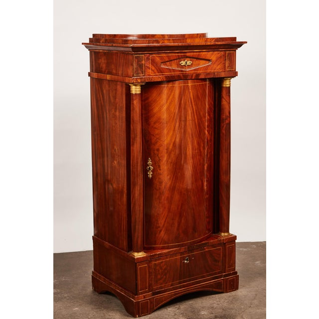 19th Century Danish Mahogany Empire Cabinet - Image 9 of 11