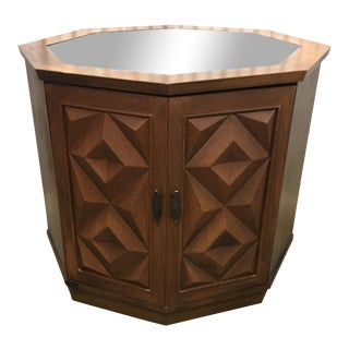 Geometric Patterned Mid Century Side Table