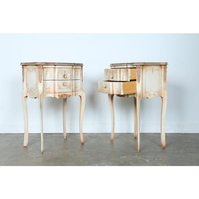 French Style Nightstands - A Pair - Image 4 of 11