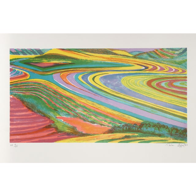 """Thelma Appel, """"New Seven North,"""" Serigraph - Image 1 of 2"""
