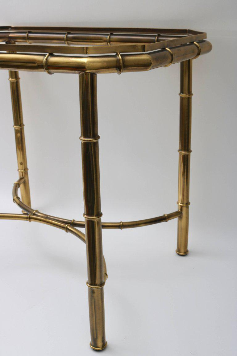 Mastercraft Faux Bamboo Tray Table In Antique Brass   Image 6 Of 9