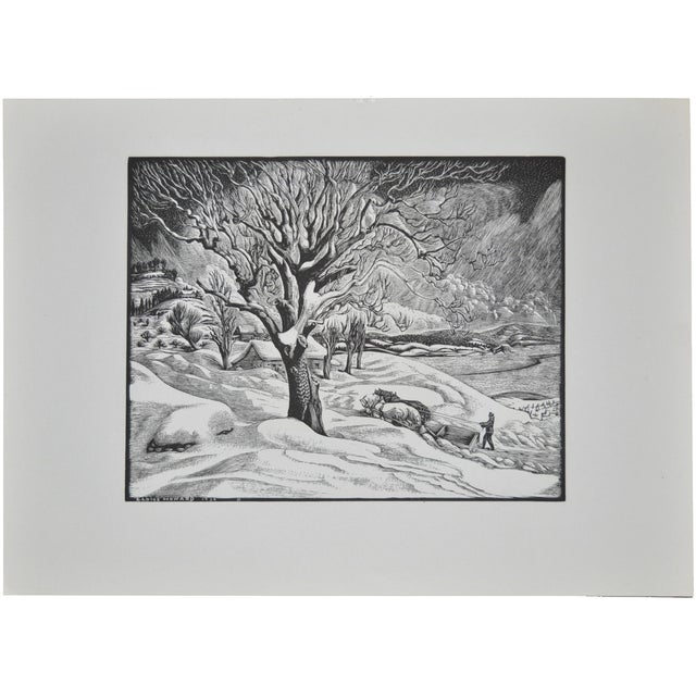 Image of Eloise Howard Original Woodcut C.1936