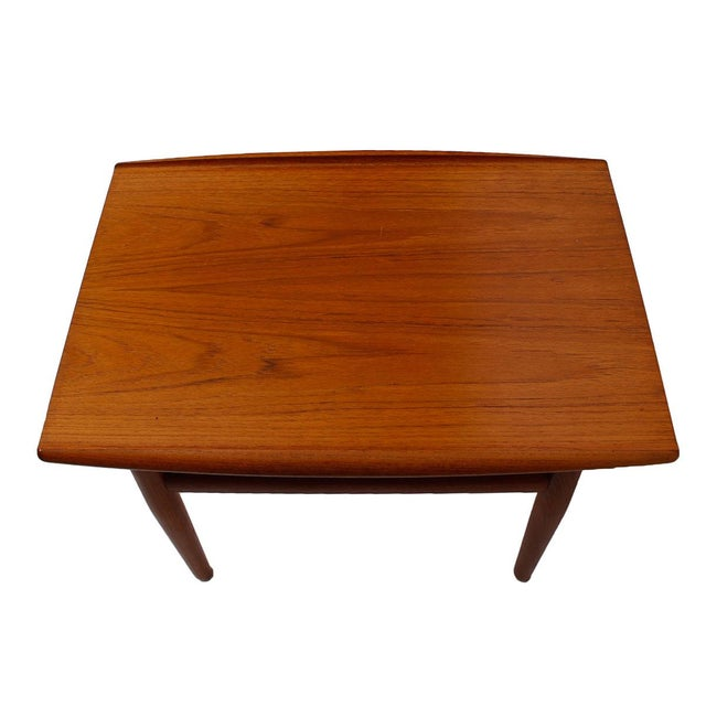 Image of Grete Jalk Teak End/Accent Table With Raised Lip
