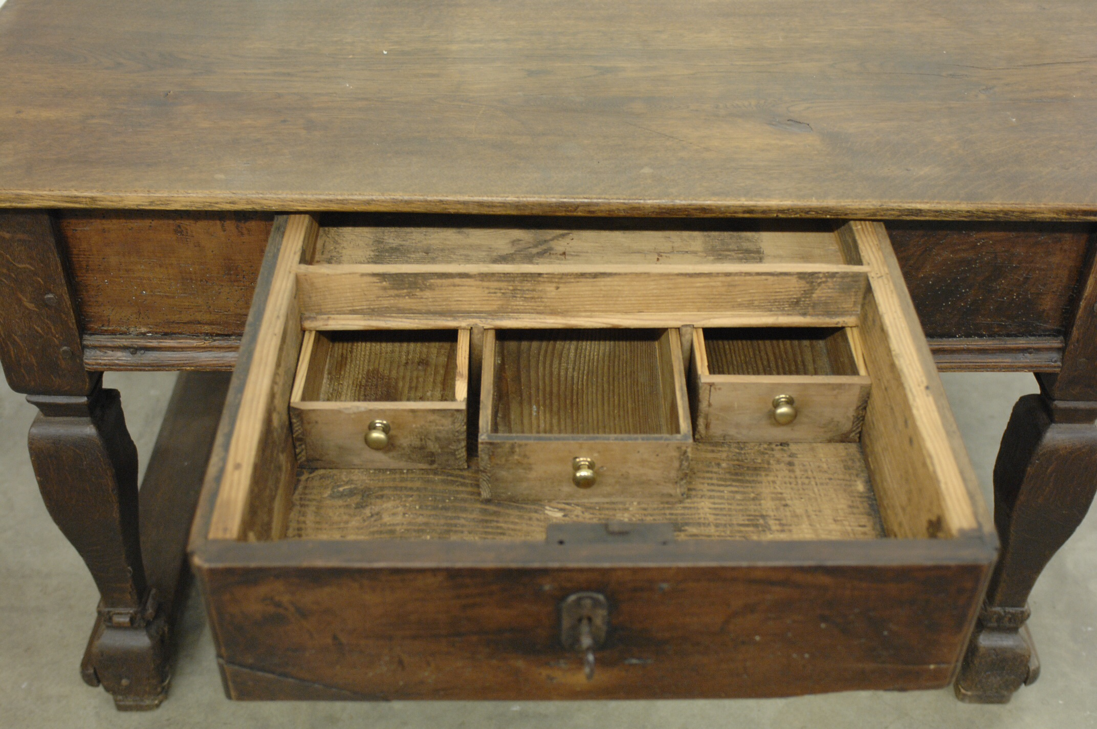 desk with locking drawers antique wood desk with lock and drawers chairish 14696