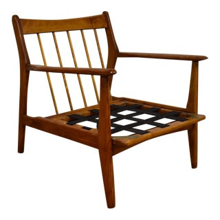 Mid-Century Birch Lounge Chair