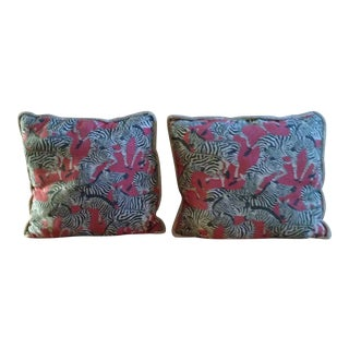Vintage Zebra Pillows - A Pair