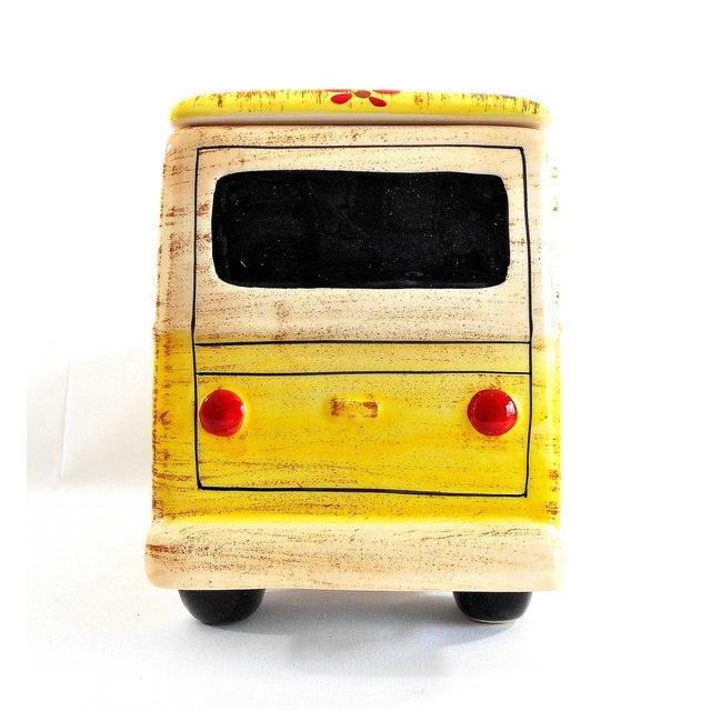 Yellow Hippie Van Ceramic Cookie Jar - Image 8 of 10